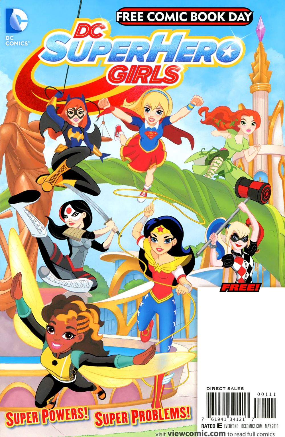 free comic book day 2016 dc superhero girls 01 special edition