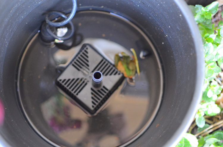 SmartPond Fountain in a Pot Photo by Amy Renea of A Nest for All Seasons