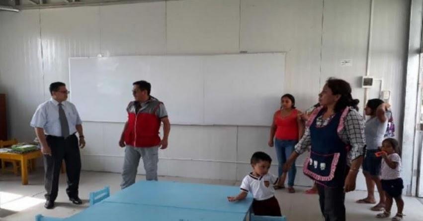 DRE Lambayeque supervisa colegios afectados por el Niño costero en 2017