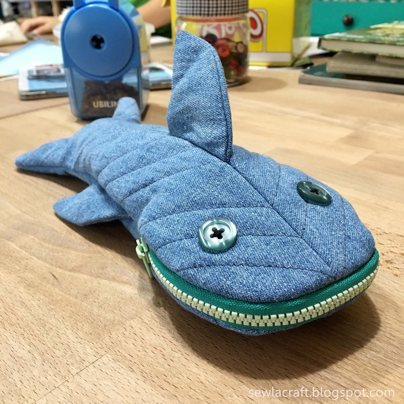 Shark Pencil Case - Fun Zipper Pouch - Unique Kids Gift Idea