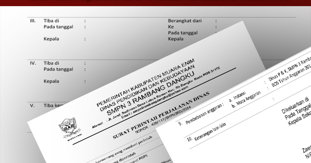Contoh SPPD (Surat Perjalanan Dinas) Sekolah Download ...