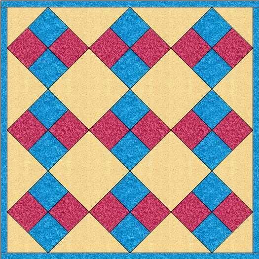 Quiltontwerp van four patches