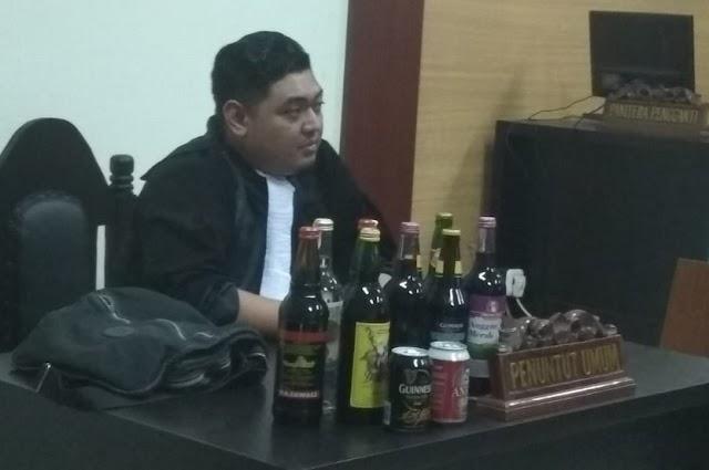 Penjual Minuman Beralkohol Di Tangerang, Divonis Hakim 7 Hari Kurungan