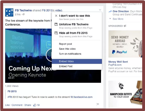 How To Embed Video On Facebook