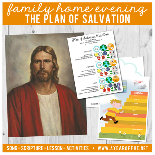 graphic regarding Plan of Salvation Printable named A Yr of FHE: Yr 02/Lesson 42: The Software of Salvation