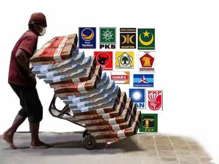 Dana Bantuan Parpol di Medan Tetap Rp1.780 per Suara Sah