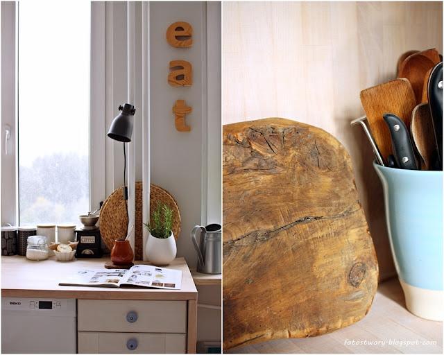 drewniany blat, drewno, kitchen