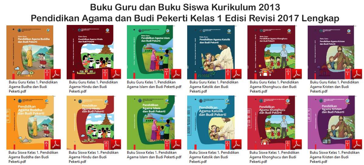 Buku Kurikulum 2013 Pendidikan Agama Dan Budi Pekerti Sd Kelas 1 Revisi 2017 Untuk Guru Dan Siswa Lengkap Dadang Jsn