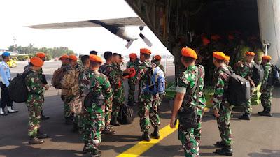 Pesawat Hercules C-130 Angkut 100 Prajurit Paskhas ke Palu