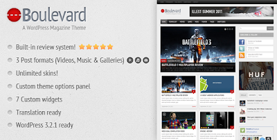 Boulevard Wordpress Theme Free download.