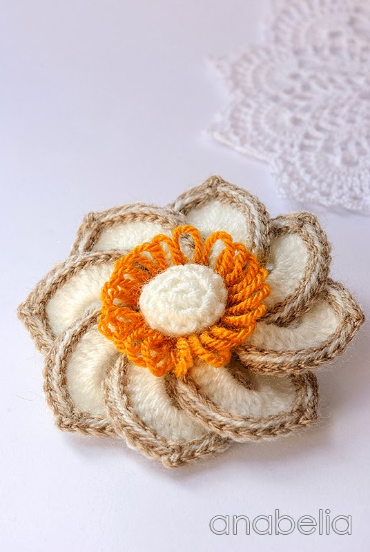 Anna crochet brooch by Anabelia
