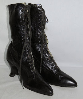Victorian leather lace up boots