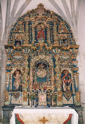 Retablo iglesia de Santiago de Castropol