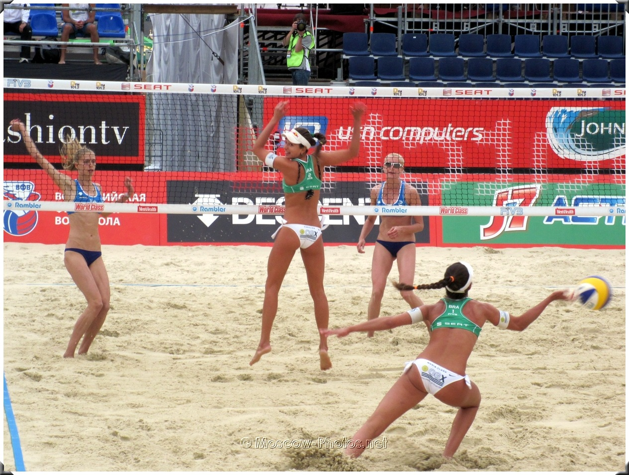 Beach Volleyball Brazilian Women's Team In Action