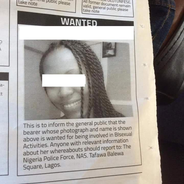 """Interesting: Check Out The """"Wanted"""" Person Police Is Seriously Searching For"""