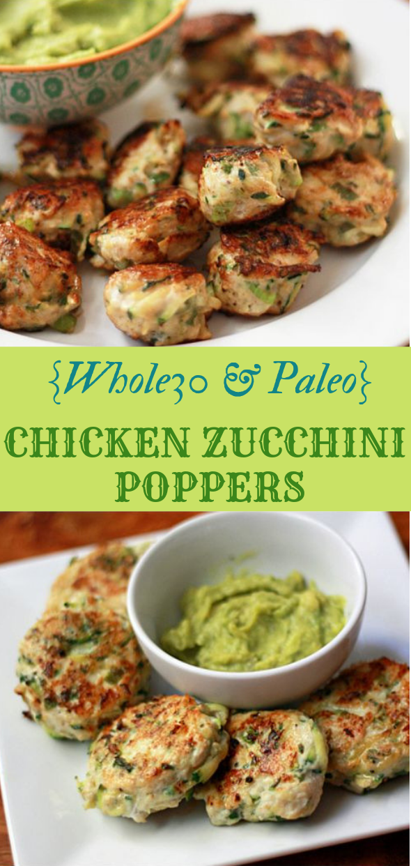 CHICKEN ZUCCHINI POPPERS #diet #paleo
