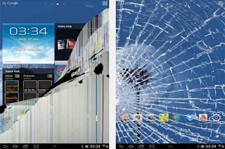 Wallpaper layar hp android retak
