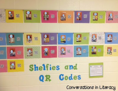 Book Shelfies and QR Codes for Parent Teacher Conferences