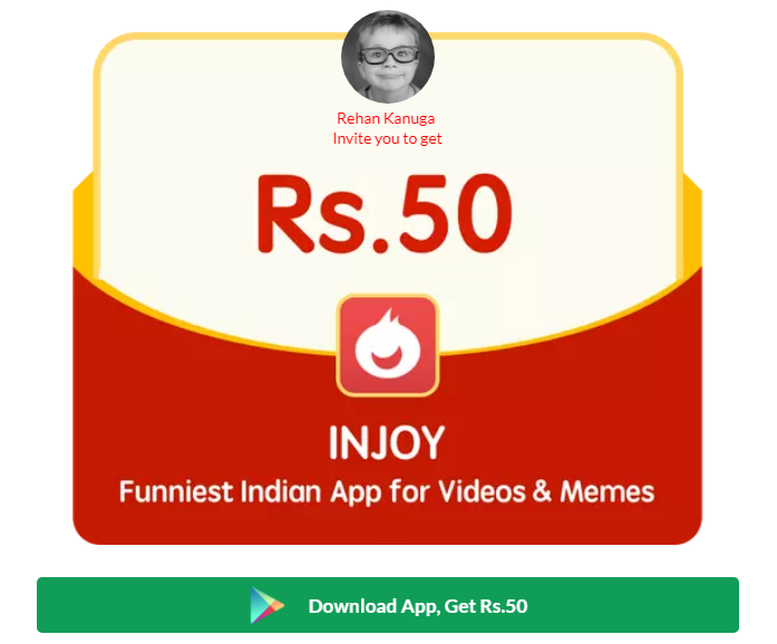 Download Injoy App and Free Paytm cash and Redeem to Bank