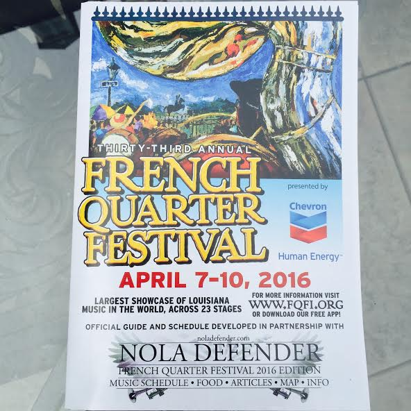 2016 French Quarter Festival New Orleans