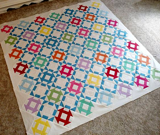 Vintage Crayola Quilt made by Trish Poolson, The Pattern designed by Riley Blake Designs
