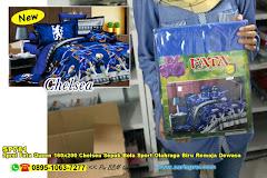 Sprei Fata Queen 160×200 Chelsea Sepak Bola Sport Olahraga Biru Remaja Dewasa