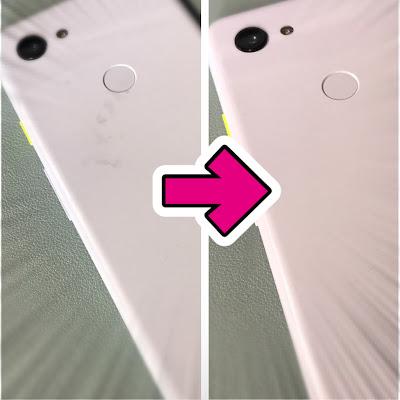 pixel3aヨゴレ取りイメージ