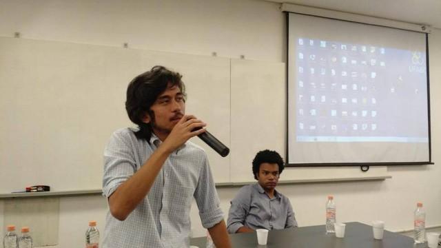 Um dos fundadores do Movimento Brasil Livre (MBL), Kim Kataguiri participou de uma palestra ao lado de outro membro do grupo (e agora vereador por São Paulo), Fernando Holiday, na UFABC (Universidade Federal do ABC), em Santo André, esta semana.