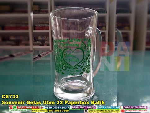 souvenir gelas ubm 32 paperbox batik harga murah
