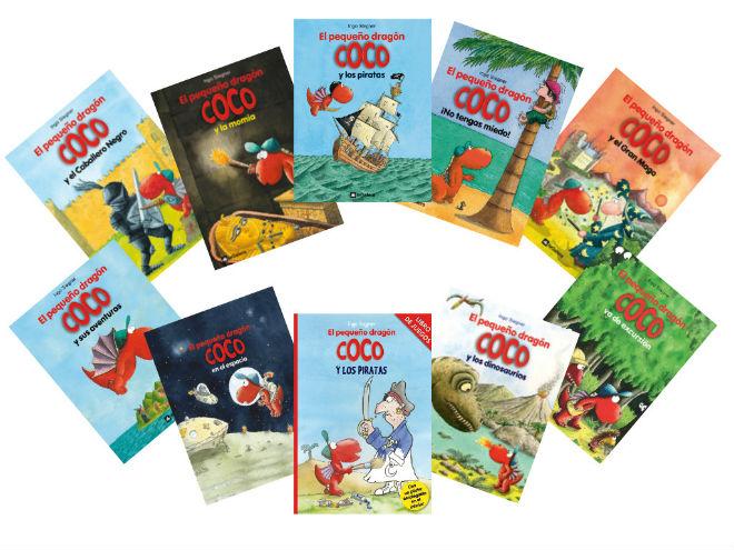 colección pequeño dragón coco, portada cuentos, libros infantiles