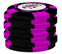 pink on black poker chip stack