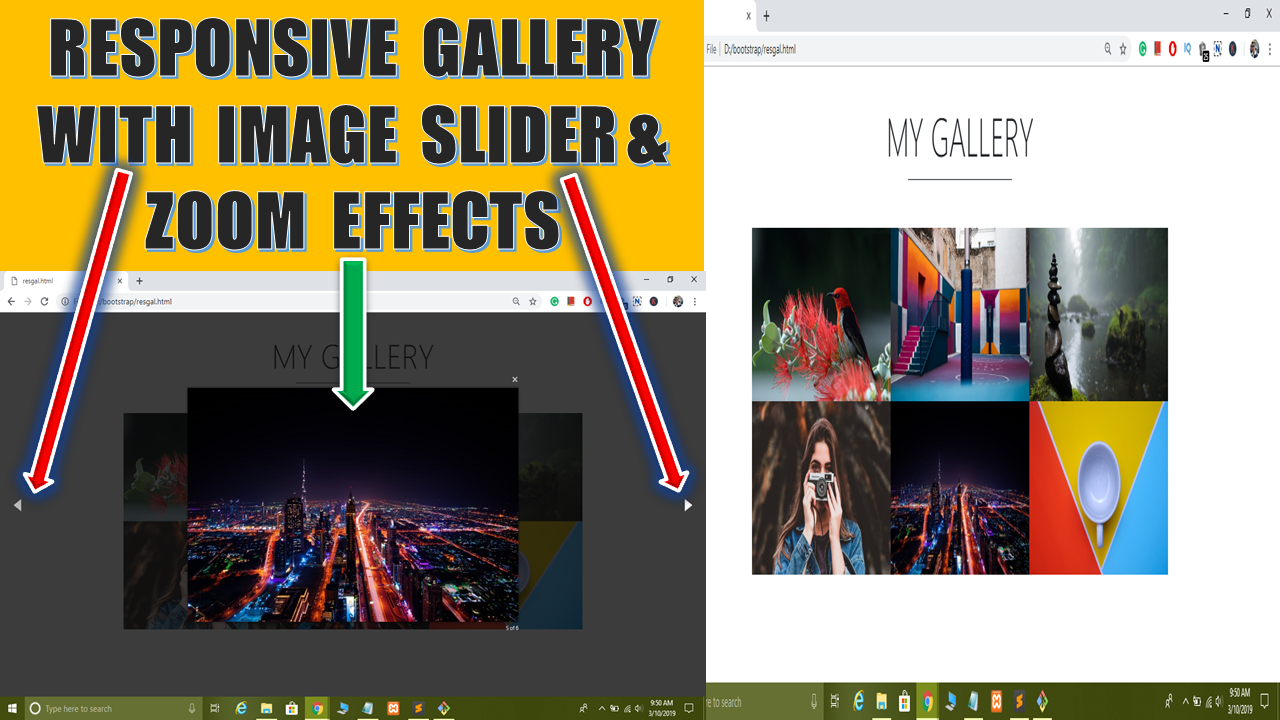 Create Responsive Image Gallery in HTML CSS JavaScript