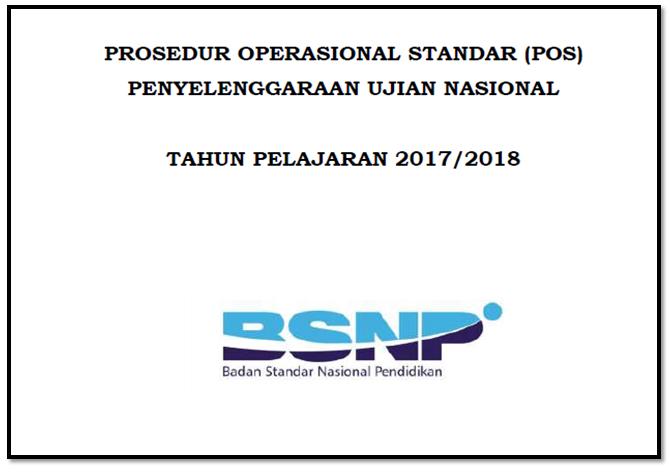 Pos Ujian Nasional Tahun Pelajaran 2017 2018 Resmi Bsnp Jurnal Kegiatan Guru