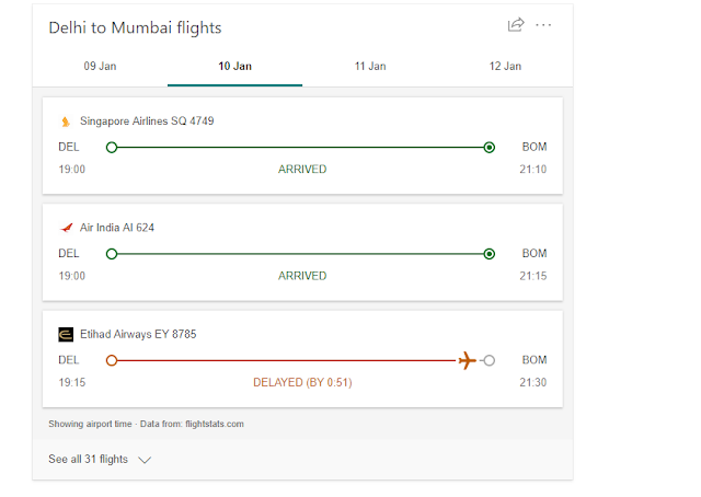 Bing ads enhanced flight tracking feature to the search which  look up flight status even without the flight number