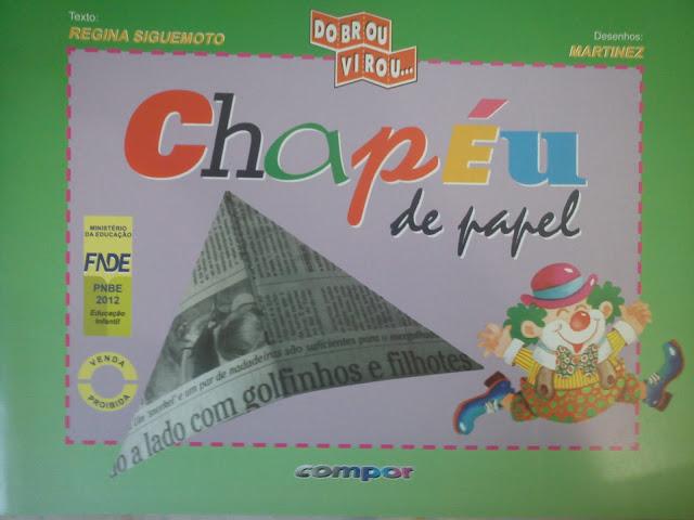 Livro Chapéu de Papel para Imprimir