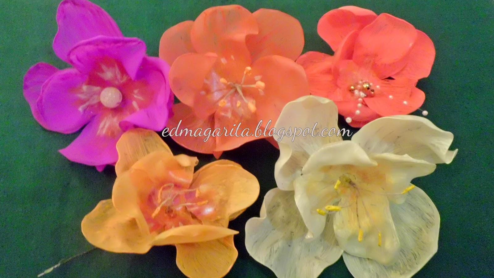 Arte Manual Cómo Hacer Flores De Plástico