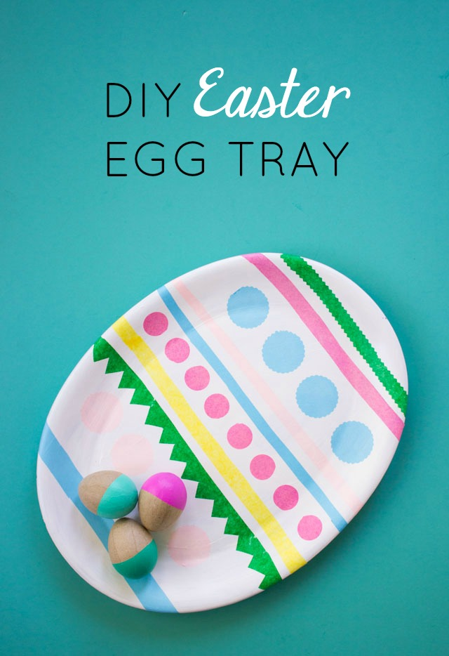 Transform an old oval platter into an DIY Easter egg tray!
