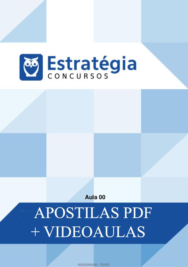 Apostilas pdf p/ TCU - Técnico de Controle Externo