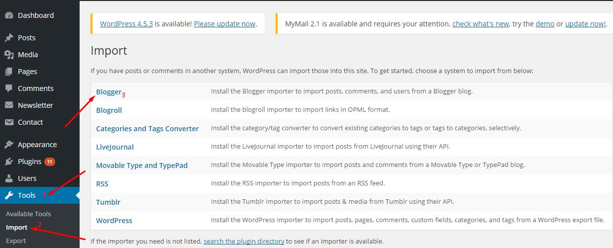 Install Blogger Plugin