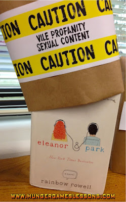 Eleanor & Park Banned Books Week Classroom Display  www.hungergameslessons.com