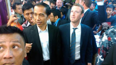Presiden Jokowi-Mark Zuckerberg
