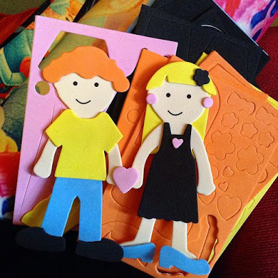 Playing with Foam Dolls - Cheap Kids Craft Australia Kmart
