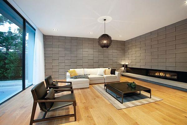 Decoraci n f cil paredes de piedra - Decoracion paredes salon moderno ...
