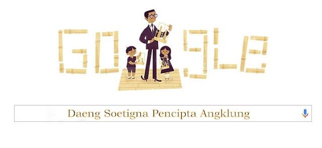 Daeng Soetigna Sang Pencipta Angklung Doodle Hari Ini