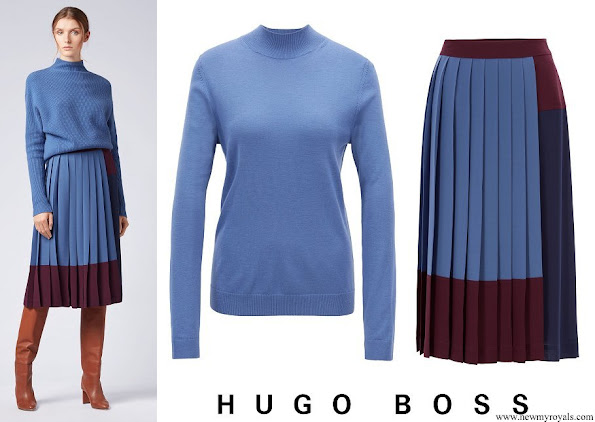 Princess Sofia wore Hugo Boss Fallie merino wool sweater