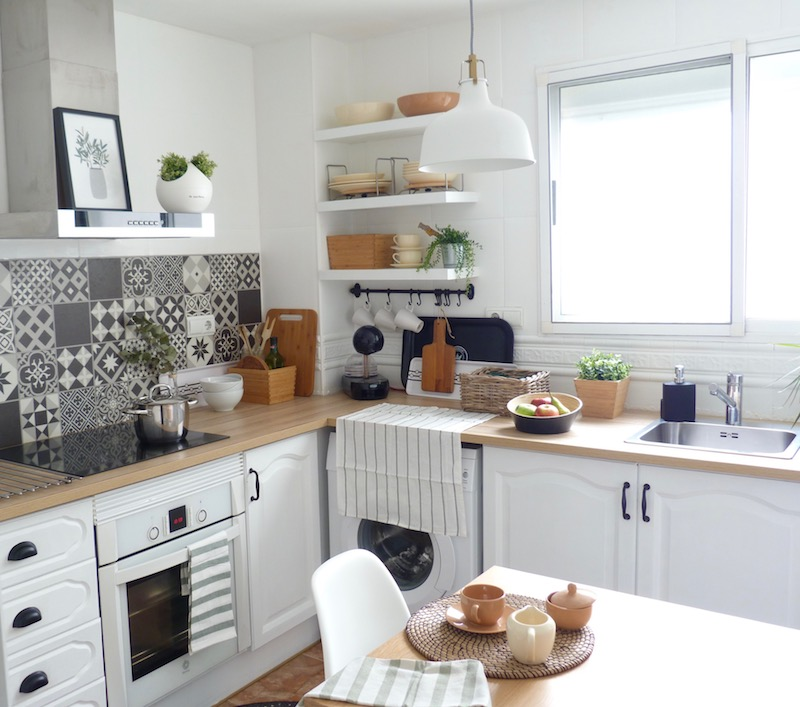 Una pizca de hogar reforma de mi cocina sin obras al fin - Cambiar encimera cocina sin obras ...