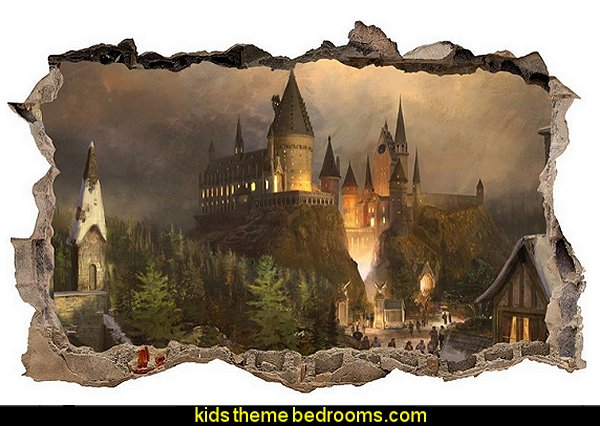 Hogwarts Harry Potter Smashed Wall Decal Wall Sticker Art Mural