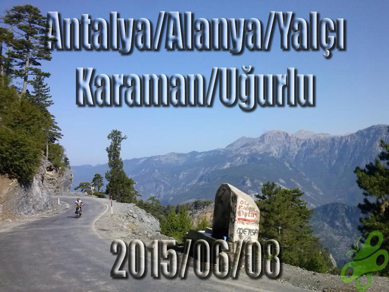 2015/06/08 Buralarda geziyorum bisiklet turu (BGBT) 25. Gün (Antalya/Yalçı - Karaman/Ermenek/Uğurlu)