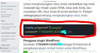 Cara setting Instant article facebook untuk blogspot