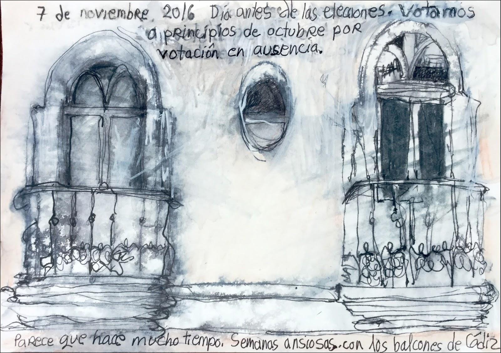 Drawings of October unfolding in Cádiz | Urban Sketchers